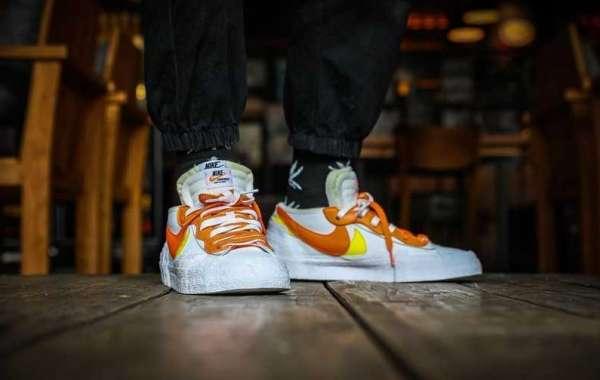 sacai x Nike Blazer Low White/White/Magma Orange will be released in February this year