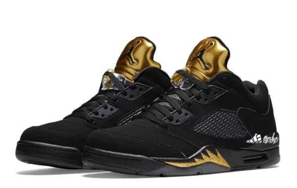 """Air Jordan 5 Low """"Black/Metallic Gold"""" will be released in May"""