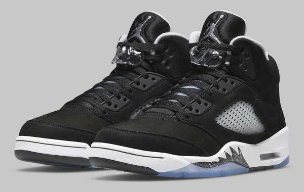 "Most Popular Air Jordan 5 ""Oreo"" Black/White-Cool Grey"